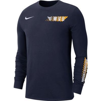 West Virginia Nike Men's Dri-Fit Long Sleeve Tee