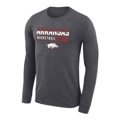 Arkansas Nike Dri-Fit Legend Long Sleeve Basketball Tee