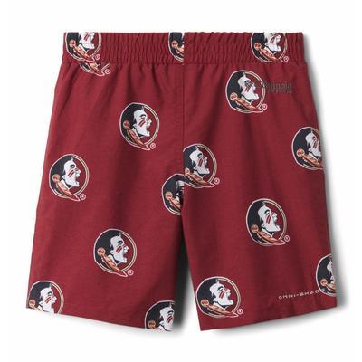Florida State Columbia Youth Backcast Printed Swim Shorts