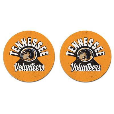 Tennessee Legacy 2pk Retro Car Coasters