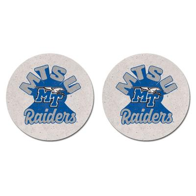 MTSU Legacy 2pk Retro Car Coasters
