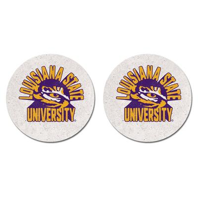 LSU Legacy 2pk Retro Car Coasters