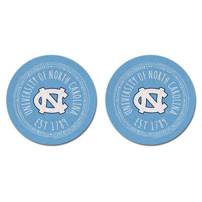 UNC Legacy 2pk Southern Pastime Car Coasters