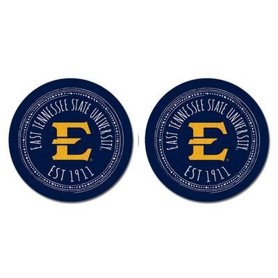 ETSU Legacy 2pk Southern Pastime Car Coasters