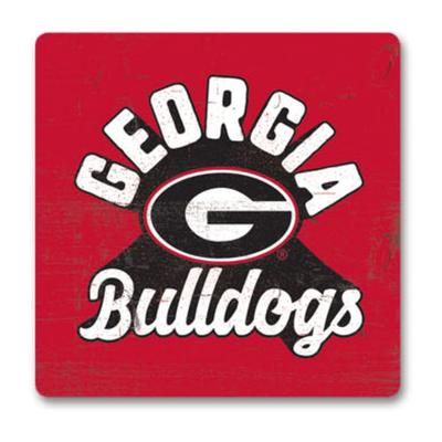 Georgia Legacy Retro Wood Magnet