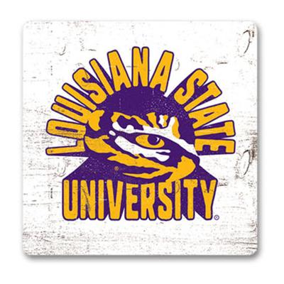 LSU Legacy Retro Wood Magnet