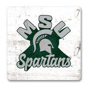 Michigan State Legacy Retro Wood Magnet