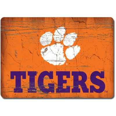 Clemson Legacy Rectangle Wood Magnet
