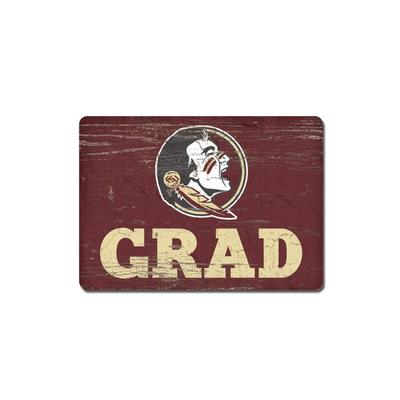 Florida State Legacy Rectangle Wood Magnet