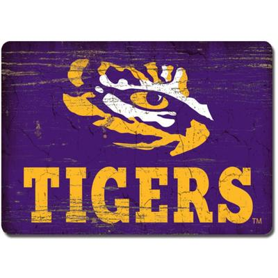LSU Legacy Rectangle Wood Magnet