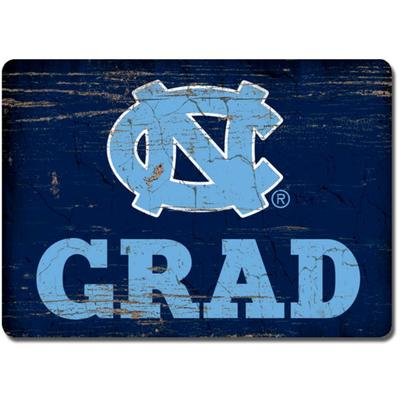 UNC Legacy Rectangle Wood Magnet