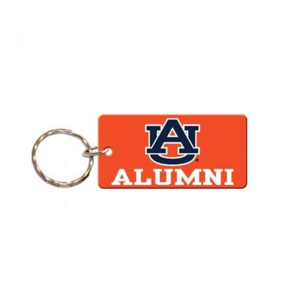 Auburn Rectangle Alumni Key Chain