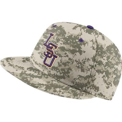 LSU Nike Aero True Fitted Baseball Hat