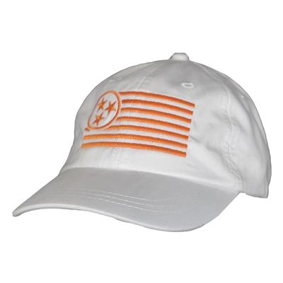 Tennessee Women's Orange Tristar Flag Adjustable Hat