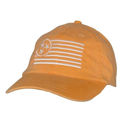 Tennessee Women's White Tristar Flag Adjustable Hat