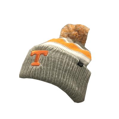 Tennessee Zephyr Striped Cuff Pom Lined Beanie