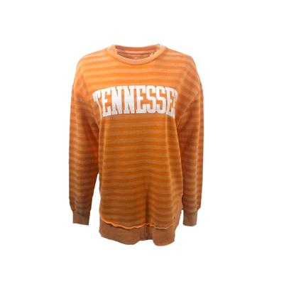 Tennessee Pressbox Women's Julia Stripe Vintage Wash Crew