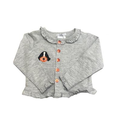 Ishtex Girls Grey Long Sleeve Cardigan