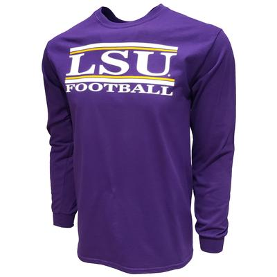 LSU Football Bar Stack Long Sleeve Tee