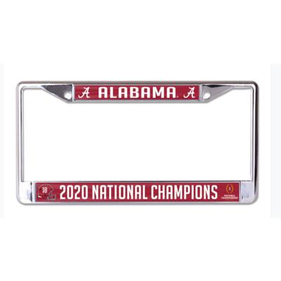 Alabama 2020 National Champions License Plate Frame