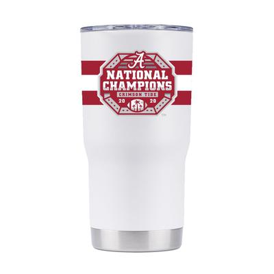 Alabama GTL 2020 National Champions White 20 oz Tumbler