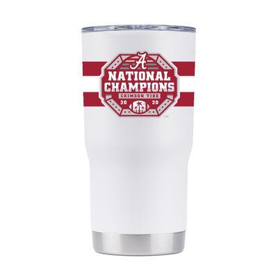 Alabama GTL 2020 National Champions White 20 oz Tumbler