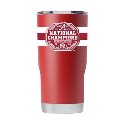 Alabama GTL 2020 National Champions Crimson 20 oz Tumbler