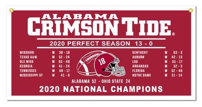 Alabama 2020 National Champions Helmet Score 18