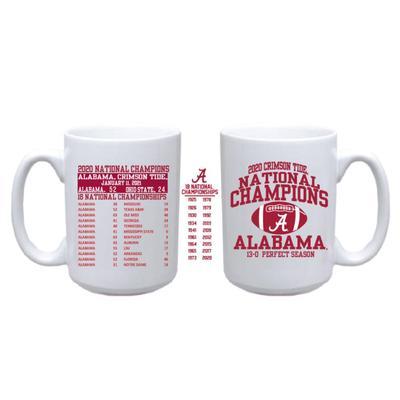 Alabama 2020 National Champions Score Mug