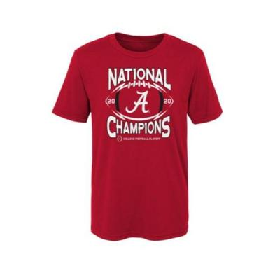 Alabama 2020 National Champions Kids Short Sleeve Tee