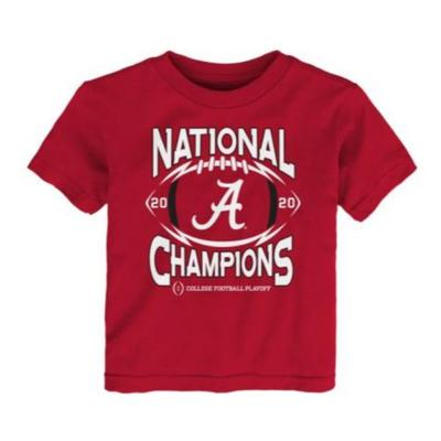 Alabama 2020 National Champions Toddler Short Sleeve Tee