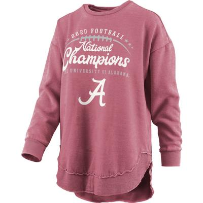 Alabama 2020 National Champions Pressbox Women's Vintage Wash Sweatshirt