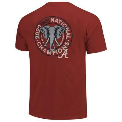 Alabama 2020 National Champions Women's Comfort Color Elephant Tee Shirt