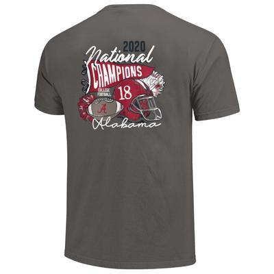 Alabama 2020 National Champions Women's Helmet Script Comfort Colors Shirt