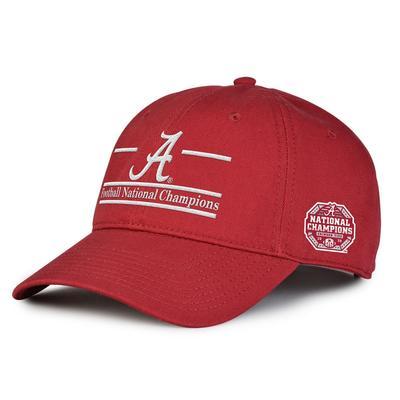 Alabama 2020 National Champions Bar Adjustable Hat