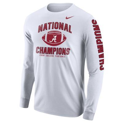 Alabama 2020 National Champions Nike Long Sleeve Tee Shirt