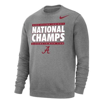 Alabama 2020 National Champions Nike Crew Neck Sweatshirt