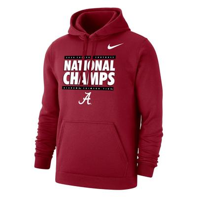 Alabama 2020 National Champions Nike Pullover Hoody