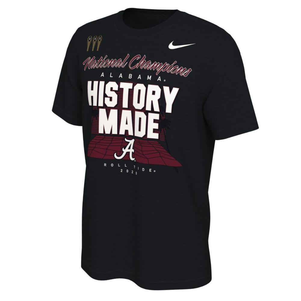 Alabama 2020 National Champions Nike Locker Room Tee