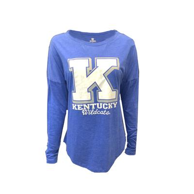 Kentucky Women's Tri-blend Off Shoulder Tee