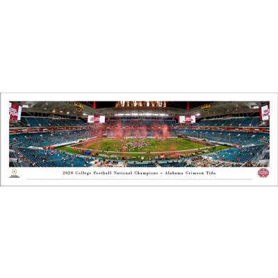 Alabama 2020 National Champions Panoramic 13.5