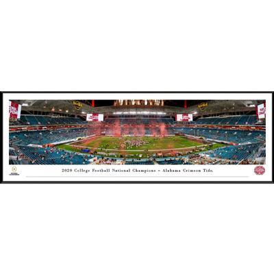 Alabama 2020 National Champions Panoramic 13.75