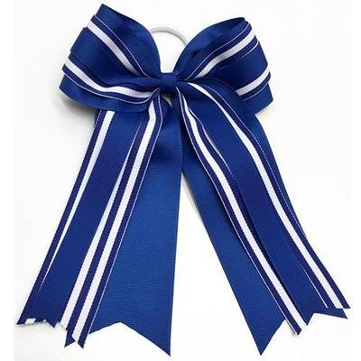 Kentucky Striped Two Tone Ponytail Bow