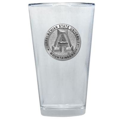 Appalachian State Heritage Pewter Pint Glass