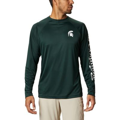 Michigan State Columbia Men's Terminal Tackle Long Sleeve Shirt