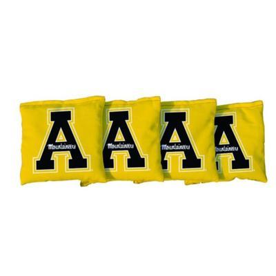 Appalachian State Yellow A Cornhole Bag Set