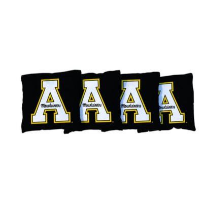 Appalachian State Black A Cornhole Bag Set