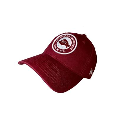 Arkansas New Era Vault Circle Patch Adjustable Hat