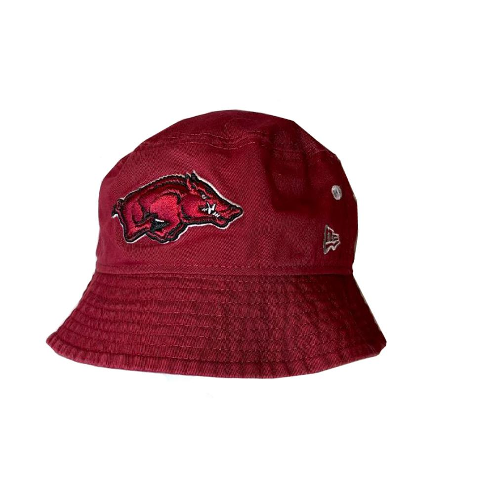 Arkansas New Era Bucket Hat W/Removable Strap