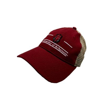 Arkansas The Game Hog Head Bar Mesh Hat